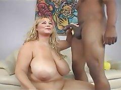 bbw blonde interracial