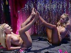 Babe, Blonde, Lesbian, Stockings