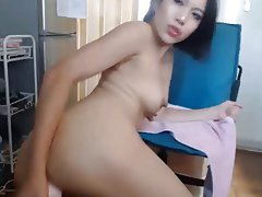 Asian, Brunette, Masturbation, Webcam