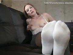 Foot Fetish, POV, Small Tits